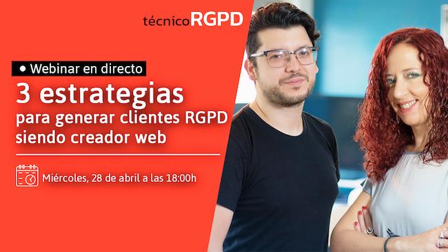 Webinar estrategias RGPD para webmasters
